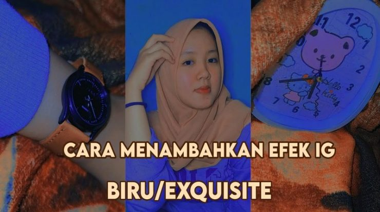 Filter IG Background Merah Biru Untuk Foto Formal