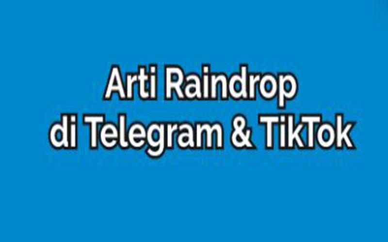 Raindrop Di Telegram Dan Tiktok