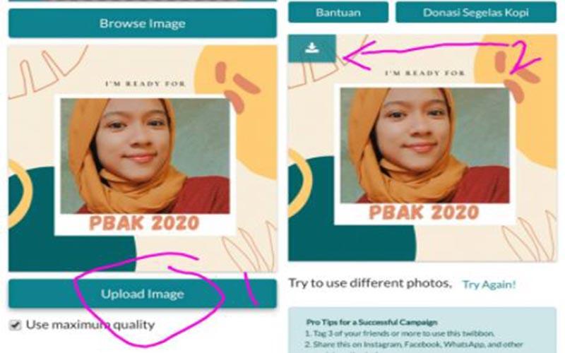 Cara Masukkan Foto Ke Twibbon Tanpa Aplikasi