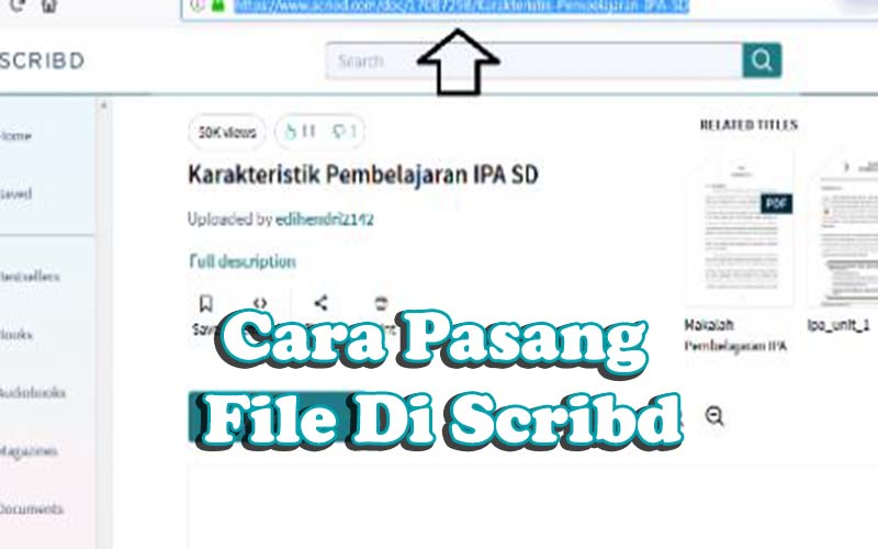 pasang File Di Scribd