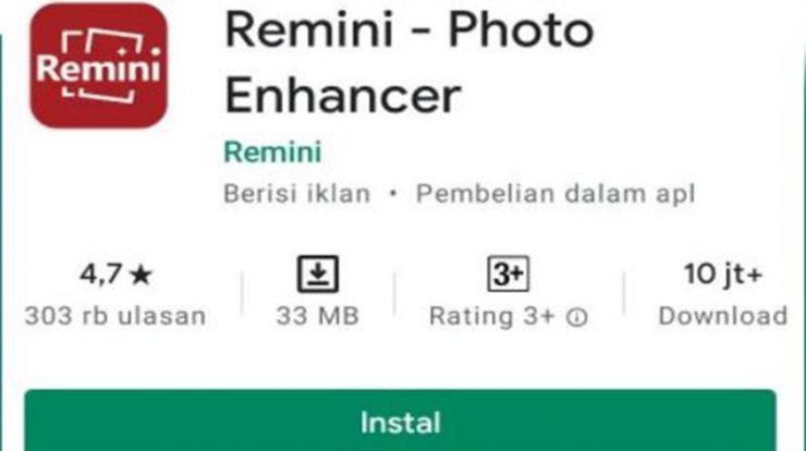 Cara Unduh Remini Photo Enhancer