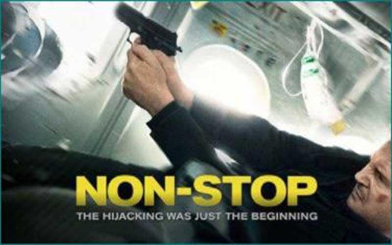 Sinopsis film non stop, Aksi horor grafis Liam Neeson